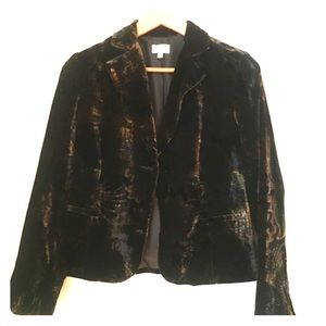 Velvet blazer from Andrew Marc